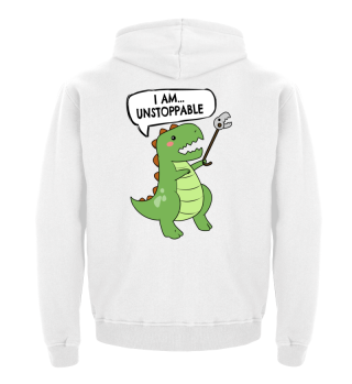 I AM UNSTOPPABLE STOFFTASCHE Tyrannosaurus Rex T-Rex Dino Fun Nerd Who Nerd