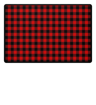 ♥ Lumberjack Fabric Red Black
