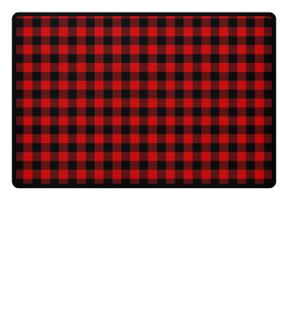 ♥ Lumberjack Fabric Red Black