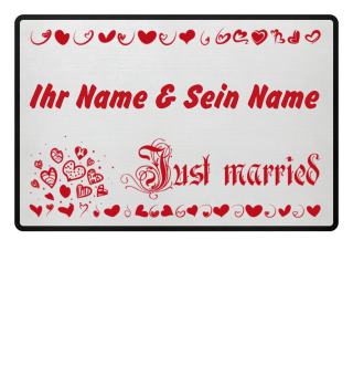 Just married (Schrift rot)