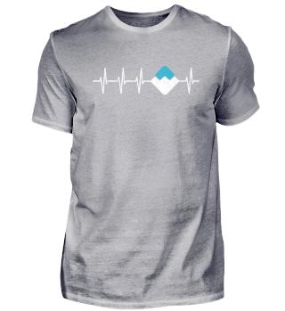 Waves Herzschlag T-Shirt Geschenk