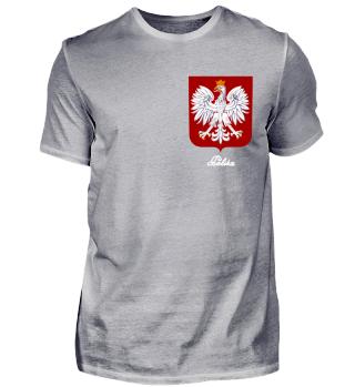 Polen Adler Wappen weiss Brust