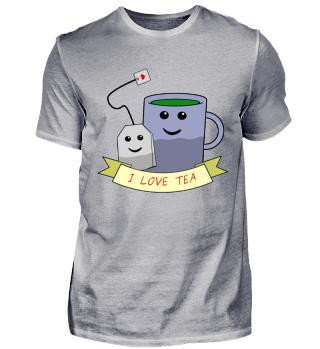 I LOVE TEA - Ich mag liebe Tee Liebhaber