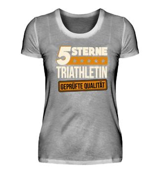5 Sterne Triathletin Triathlon Geschenk