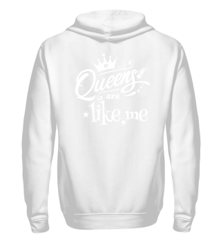 ♥ Queens Are Like Me - white