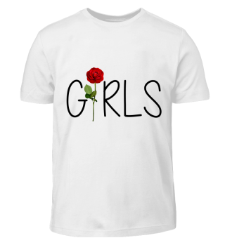 Girls Lettering with red rose love gift