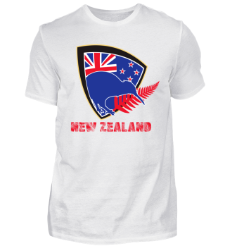 Newzealand Kiwi with Flag