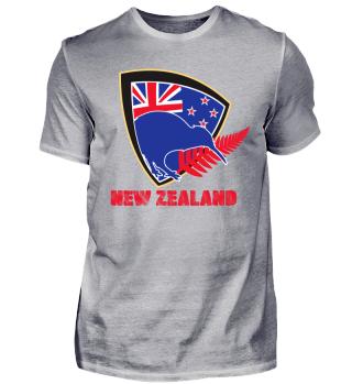 Newzealand Kiwi with Flag
