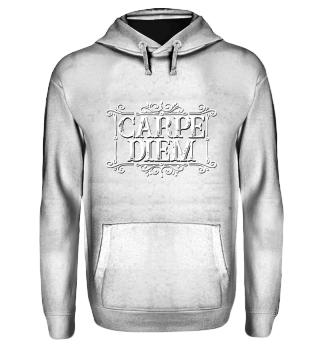 CARPE DIEM - vintage frame white T-Shirt