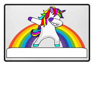 ♥ Dabbing Rainbow Unicorn - Your Text 1