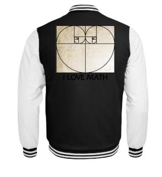Fibonacci Spiral Heart - I LOVE MATH 1