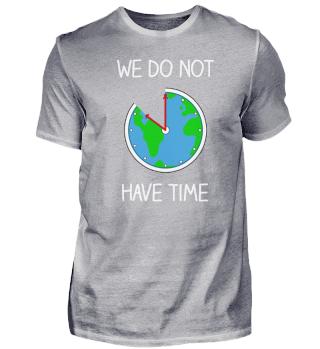Fridays For Future - Weltkugel als Uhr