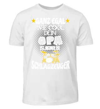 Kinder Shirt - Opa Schlagzeuger