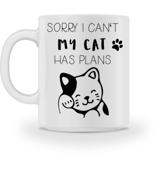Cat Cats Kitty Gift Sorry Quote funny