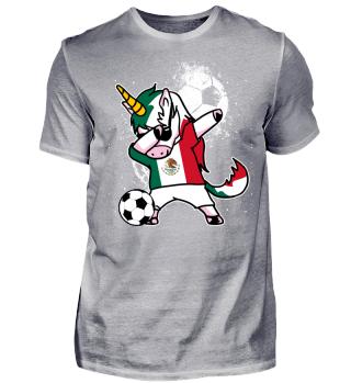 Mexico Fussball Einhorn Unicorn Dab