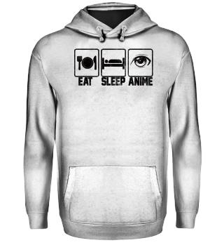 Eat - Sleep - Anime - Repeat - Anime - Manga - Cosplay - Games - Geschenk