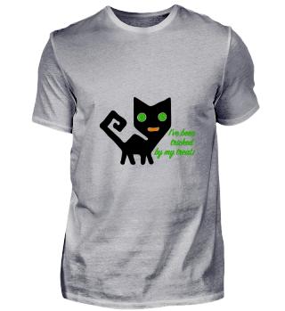 Tricked cat Halloween Shirt black green