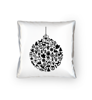 Icons Christmas Tree Ball - black