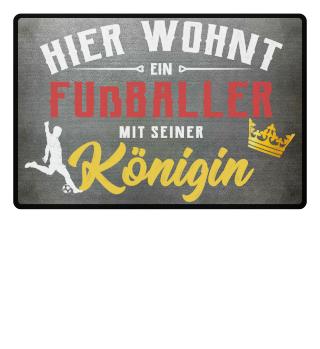 Fußballer-Fußmatte | HIER WOHNT EIN FUSSBALLER