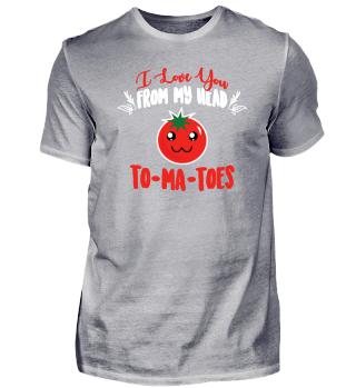 Ich liebe dich Tomaten Kopf