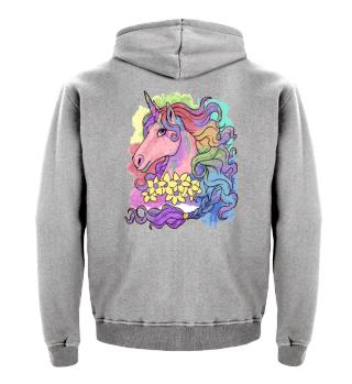 Unicorn Watercolor - Whimsical Rainbow