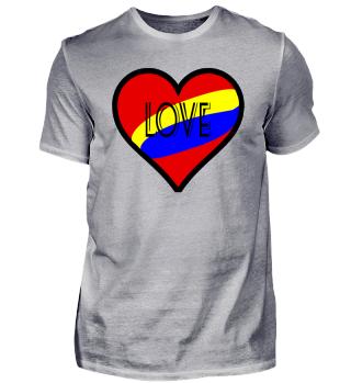 Love Herz Liebe Red Rot Blue Blau Gelb