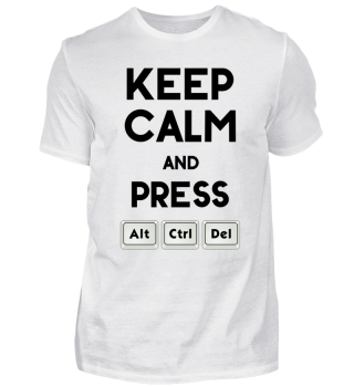 Keep Calm ALT CTRL DEL - black