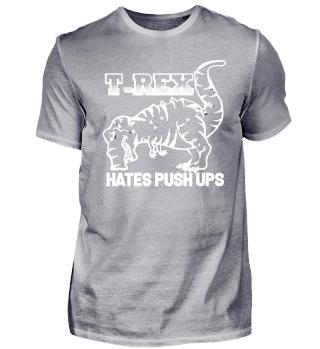 T-Rex Hates Push Ups (Black)