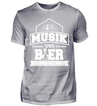 Lustiges Musiker Musik Shirt Und Bier