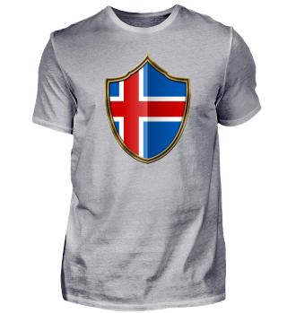 Island-Iceland Wappen Flagge 016