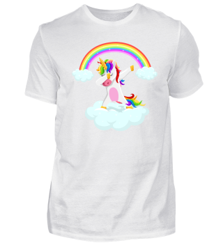 Dabbing unicorn dancing on grass gift