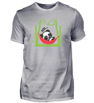 Süßer Baby Panda schläft in Hängematte