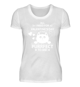 Valentines Day Purrfect Cat Face Hearts