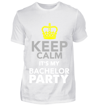 GIFT- KEEP CALM BACHELOR PARTY WHITE