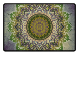 ♥ Folklore Lotus Mandala Green Brown