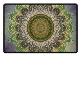 ♥ Folklore Lotus Mandala Green Brown