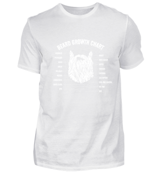 Funny Beard Growth Chart T-shirt