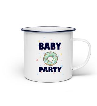 BABY PARTY DONUT GLITZER MAMA GESCHENK