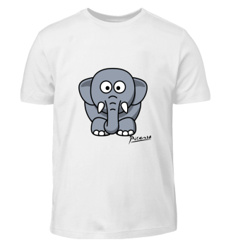Fanti Elefant Picassostyle