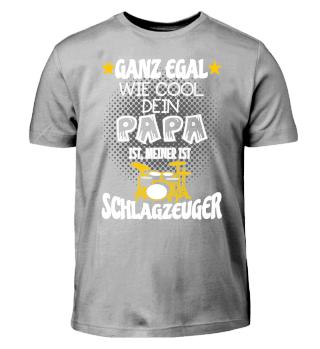 Kinder Shirt - Papa Schlagzeuger
