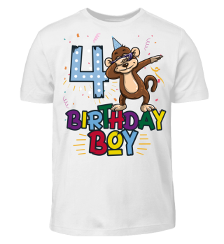 Birthday Boy Monkey 4 Artboard 1