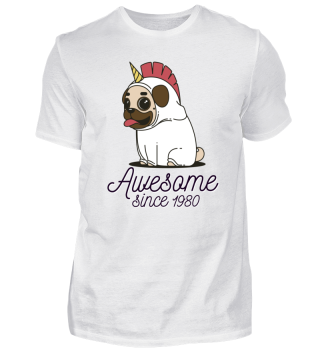 Awesome Since 1980 Funny Gift