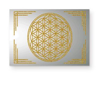 Blume Des Lebens Rahmen gold LW
