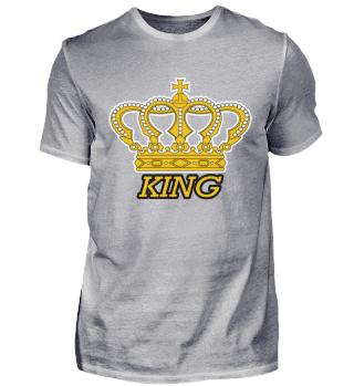 King Krone Gold Schriftzug Mann Freund