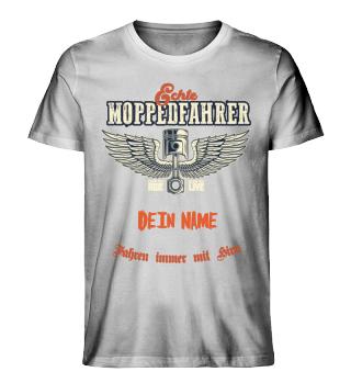 Vintage Moppedfahrer (Mit eig. Namen)