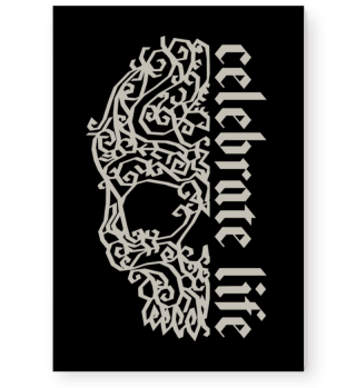 Artsy Vintage Skull - Celebrate Life 2g