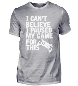 Lustiges T-shirt für Gamer