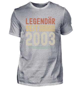 Legendär Seit 2003 18. Geburtstag Bday