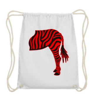ARBEZ Zebra from behind - black red