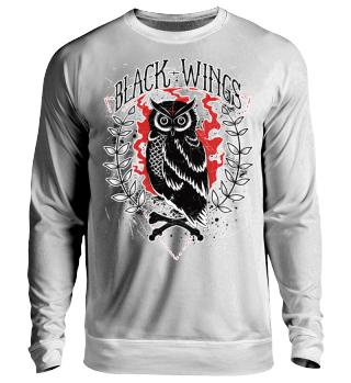 Herren Langarm Shirt Black Wings Ramirez